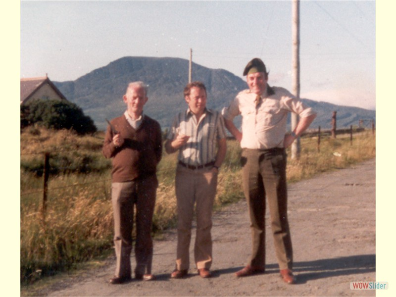 Annual Training - Bere Island 1981 (Tom Davis, Eddie McNulty, Vinnie May)