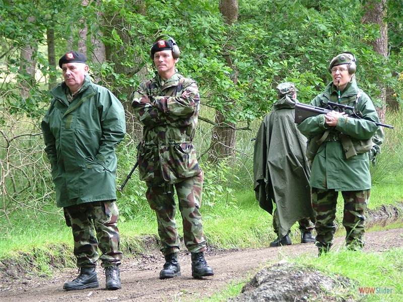 Annual Training 2004 - CQ Mossy Hogan, Cpl Sting whelan, CS Kevin Young, Lt Mairghead Kelly